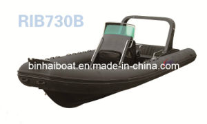 25ft 7.6 Meters for 16 Persons Rigid Hull Boat Rib 730 B with CE