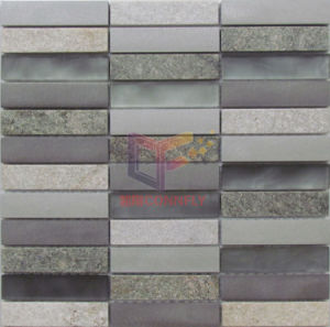 Matt Face Glass with Aluminium and Stone Mosaic (CFA104) pictures & photos