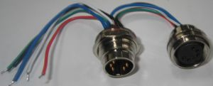 Aisg 5pins Wire Receptacle Connector pictures & photos