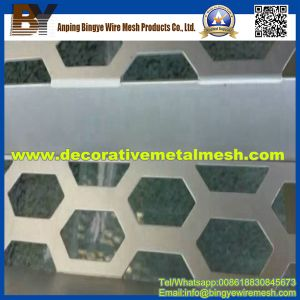 Hexagonal Perforated Metal Mesh for Store Fronts pictures & photos