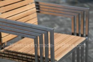 Stainless Steel Teak Wood Garden/Restaurant Chair pictures & photos