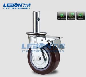 8 Inch PU Swivel Scaffold Industrial Caster