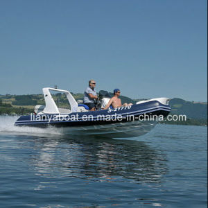 Liya 17ft FRP Inflatable Speed Boat PVC Rib Boat China Manufacturers pictures & photos