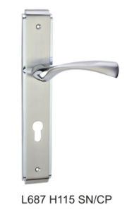 Luxury Larger Size 85mm Zinc Alloy Door Lock (L687H115 SN/CP) pictures & photos