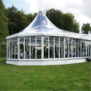 Outdoor White PVC Roof Glass Wall ABS Wall Aluminum Clear Span Big Event Exhibition China Party Marquee Wedding Tent pictures & photos