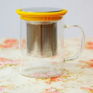 Colorful Cup Gift Mug Gift Glass Cup Tea Cup with Filter pictures & photos