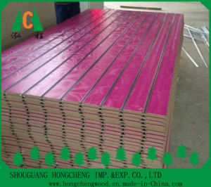 China 4X8 Low Price Melamine Slotted Board/Melamine Displaying MDF with New Design Colors Suppliers From China pictures & photos