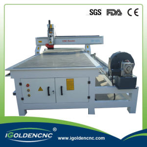 Vacuum Table Hsd Spindle 3D 4 Axis CNC Machine 1325 pictures & photos