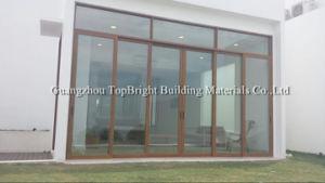 Wood Grain Aluminum Sliding Door/Sliding Glass Door pictures & photos
