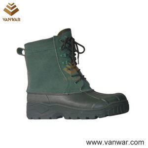 Dark Green Canadian Waterproof Snow Boots with Comfortable Lining (WSB010) pictures & photos