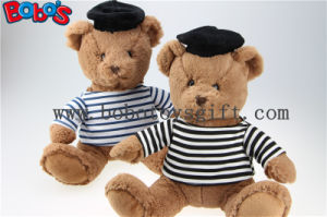 Navy Teddy Bear Plush Gift Soft Bear Toys with Sailor′s Striped Shirt and Black Cap pictures & photos