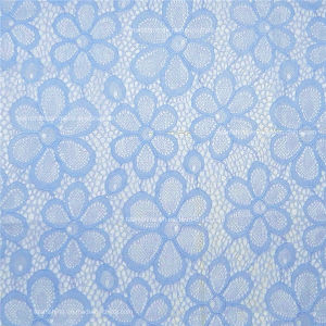 Blue Color Elastic Swiss Fabric Lace (NF1007) pictures & photos