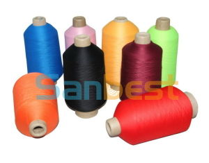 100% Colorful High Quality Polyester Textured Thread 200g pictures & photos