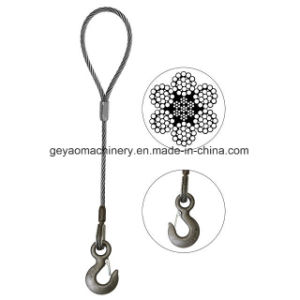 Eye and Eye Hook 6*25 Iwrc Bright Wire Rope Sling pictures & photos