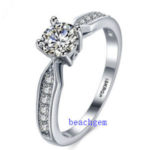 Hot Sell Jewelry- Cubic Zirconia Brass Rings (R0834) pictures & photos