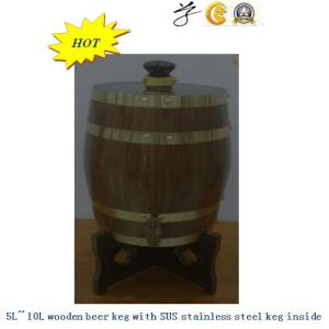 5L~15L Wooden Beer Kegs with Inner Tank pictures & photos
