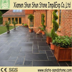 Hot Sell Black Slate Flooring Tiles pictures & photos