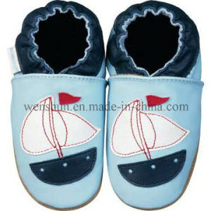 Sailing Ship Pictures Baby Leather Shoes Ty6606 pictures & photos