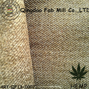 Hemp/Recycled Polyester Twill Fabric for Pants (QF13-0007) pictures & photos