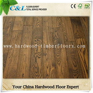 Antique Wire Brushed Oak Engineered Flooring pictures & photos