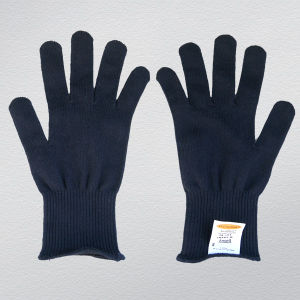 Black Color Thermolite String Knit Work Glove pictures & photos