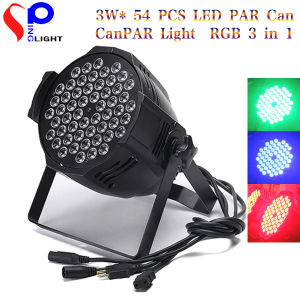 3W* 54 PCS LED PAR Can PAR Light RGB 3in1