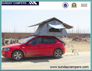 4WD Cheap Poly Canvas Roof Tent with 4*4 Awning pictures & photos