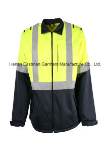 Hi Vis Waterproof Soft Shell Coat pictures & photos