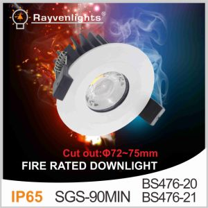 SGS 90mins BS476-21 Fire Rated Test 10W COB Fire Rated Down Light