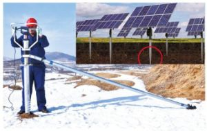 Solar Tracking System Ground Screw for Rail Rack Bracket pictures & photos