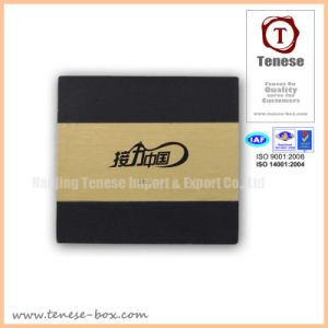 Custom Printed Black Kraft Rigid Paper Box pictures & photos