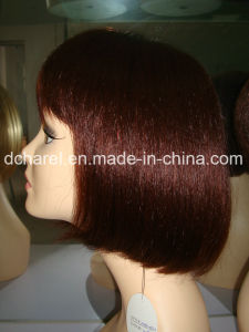 Machine Made Human Hair Wig pictures & photos