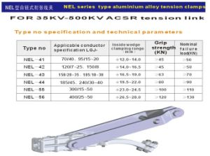 Nel Series Type Aluminum Alloy Tension Clamps pictures & photos