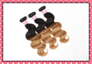 Ombre Color Human Hair Peruvian Hair Extension Body Wave 16inches pictures & photos