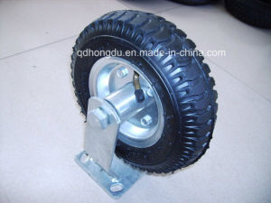 Black Iron Core Rubber Wheel Caster pictures & photos