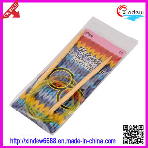 Bamboo Circular Knitting Needle with Colorful Plastic Thread (XDBC-003) pictures & photos