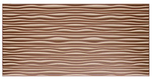 Coffee FRP Tile Look 3D Waterproof Wall Panel pictures & photos