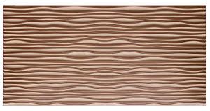 Coffee FRP Tile Look 3D Waterproof Wall Panel