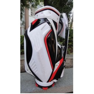 Custom Embroidery Logo Press Moderl PU Material Golf Bag pictures & photos