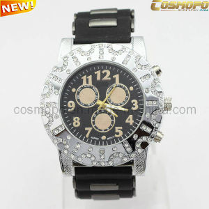 High Quality Men Silicone Watch with Stones (SA1911)