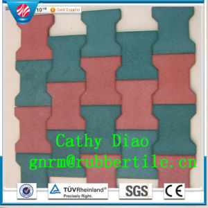 Best Seller Playground Rubber Tile, Dog-Bone Rubber Tile, Rubber Stable Tiles Wearing-Resistant Rubber Tile pictures & photos