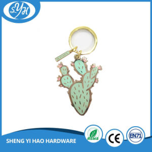Creative Design Gold Plating Basket Shape Hard Enamel Keychain pictures & photos