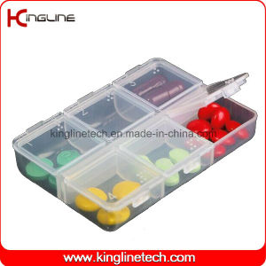Plastic 6-Cases Pill Box (KL-9100) pictures & photos