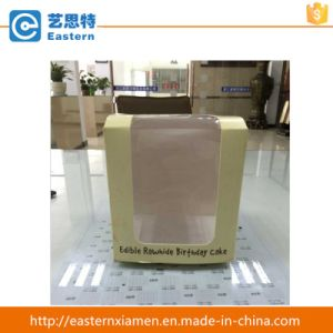 Paper Food Box Fancy Paper Cake Box with Clear PVC Window pictures & photos
