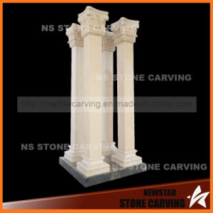 290cm Beige Marble Square Pillar Solid pictures & photos