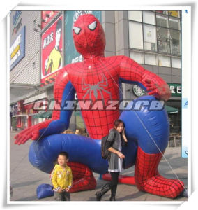 Best Emulational PVC Tarpaulin Inflatable Spiderman Replica Standing on Square