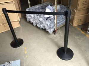Black Metal Queue Control Retractable Barrier for Event