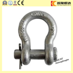 Forged G2130 U. S Type Bow Shackle, Galvanized Bow Shackle pictures & photos