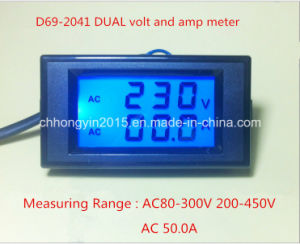 D69-2041 AC 200-450V AC 50A Dual LCD Panel Meter pictures & photos