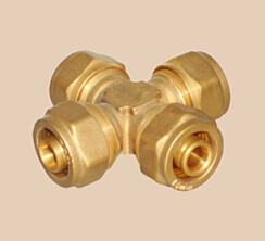 Brass Compression Cross Fittings for Pex Pipes